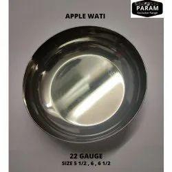 Param Silver Apple Wati 22 Gauge Bowl, Size: 6 Inch