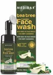 Medibar Tea Tree Foaming With Built-In Face Brush - With Tea Tree Face Wash  (150 Ml)