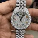 Diamond Watches / Moissanite Studded Diamond Iced Out Watch, 36 Mm Dail 4