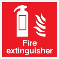 Rectangular Red Fire Extinguisher Signs, For Multi- Purpose