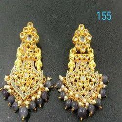 Classic Design Western Kundan Earring Set For Women And Girl Bijoux