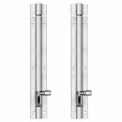 Atlantic Modern Plain Tower Bolt 8 Inch (Stainless Steel, Two Tone Silver)