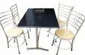 Rectangular 4 Seater Stainless Steel Dining Table For Restaurant