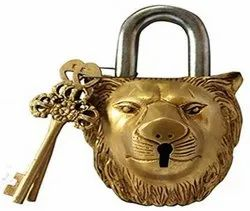 NICE With Key Animal Lion Pad Lock, Padlock Size: STANDARD, Packaging Size: 10 - 20 Pieces