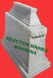 Outdoor Square Marble Stone Turbat, Size: 6*2.5*2.5 Feet