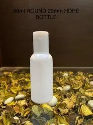 50ml Hdpe Round Bottle With 20mm Ftc