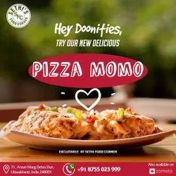 Veg Pizza Momos