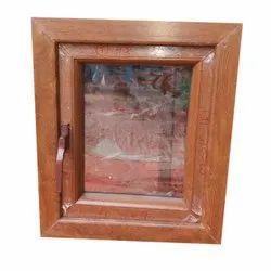 Brown (Frame) Wooden Glass Window, Rectangular