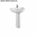 White Pedestal Wash Basin
