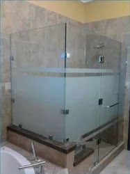 Hinged Shower Glass Door, For Home And Hotel, Thickness: 8mm