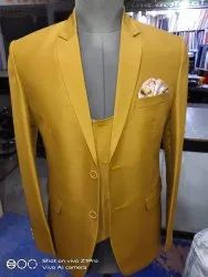 Normal Cotton Coat Pant 3 Piece Slim Fit Casual Wear