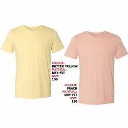 T-Shirt-RN-Semi Special,Butter Yellow  & Peach