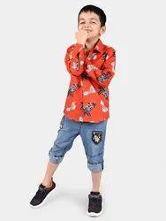 Kids Boys Cotton Shirt
