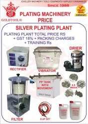 Gold Tool Silver Plating Plant