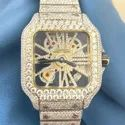 Moissanite Studded Iced Out Watch, 41 mm Dial, EF/VVS Diamond,Yellow/White Tone Watch11