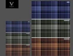 Cotton 30 x 30 Yard Dyed Mill Grade Twill Check Fabric, Check/stripes, Multicolour