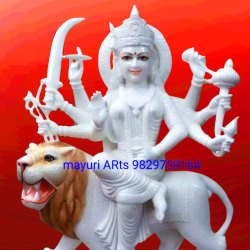 Sherawali Maa Durga Marble Statue