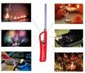 Genesis Red Plastic & SS Pipe Puja Lamp Barbeque Candle Fireworks & Gas Stove Flame Lighter