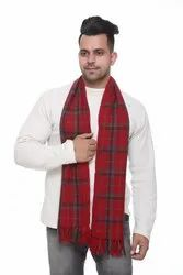 Designer Men Woolen Check Scarves