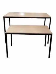 Rectangular Mild Steel Nesting Table Set, For Showroom