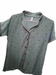 Gray Girls Cotton Nightwear Set