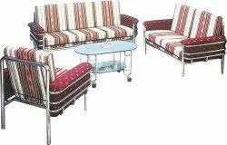 Decorative Mild Steel DS 236 Sofa Set, For Home, Living Room