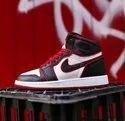 Casual Wear Black Air Jordan 1 Retro High Shoe, Size: 41 To 45