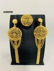 1 Gram Gold Plated Earrings With Rings