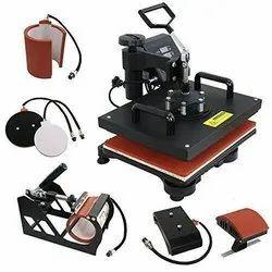 5 In 1 Heat Press Machine Mug, T-Shirt, Cap, Plate, Model Name/Number: Imported