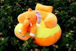EF Fabric Orange Soft Elephant Baby Seater, For Kids