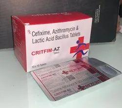 Cefixime  + Azithromycin  + Lactic Acid Bacillus Tablet