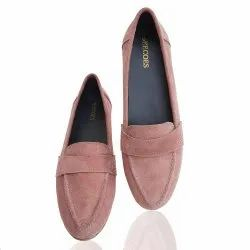 Eecoes Women Suede Leather Belly, Size: 36-41