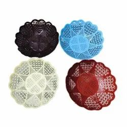 Round Food Grade Plastic Fruit Basket, For Home, Size: 9 Inch
