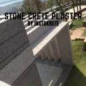 Exterior Gray Stone Crete Plaster
