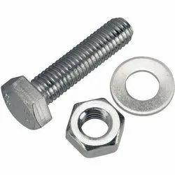 UI Hexagonal SS202 Hex Nut Bolt, Size: 1