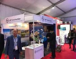 White PVC Octanorm Exhibition Stall Rental Services