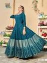 Poshak Vol 1 By Blue Hills Rayon Long Party Wear Gown Supplier