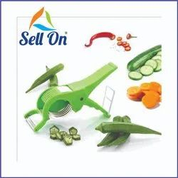 Green Cucumber Cutter With Peeler