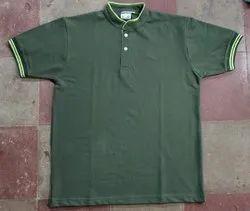 Cotton green Collar T Shirt
