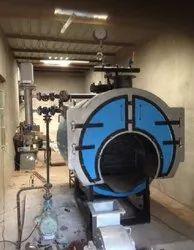 Wood & Coal Fired 1500 kg/hr Packaged Steam Boiler
