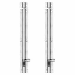 Atlantic Modern Plain Tower Bolt 10 Inch (Stainless Steel, Two Tone Silver)