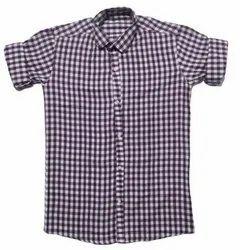 Checked Collar Neck Fashionaex Cotton Casual Wea Check Shirt For Men Set Of 4