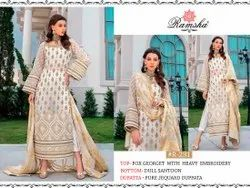 Fox Georgette Heavy Embroidery Suits