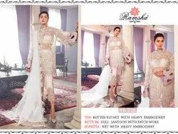 White Net Embroidery Suits