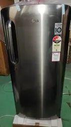 3 Star Silver LG Single Door Refrigerator Shiny Steel, Capacity: 190 Litres