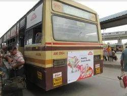 Back Panel Vinyl Bus Branding Services In Chennai, For Transit Advertising, Pan India