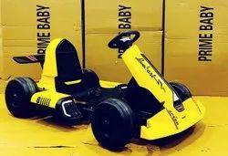12V Dual Motor Yellow Color Electric Rideon Gokart For Kids