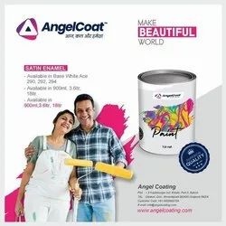 Angel Coat Soft Sheen Satin Enamel Paint 3.6 Ltrs, Tin And Can