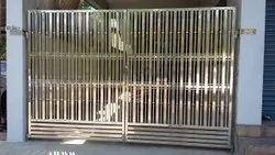 Swing Modern SS Main Gate, For Residential, Size: 6.5 X 8 Ft