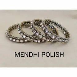 Party Golden Mendhi Polish Bangles